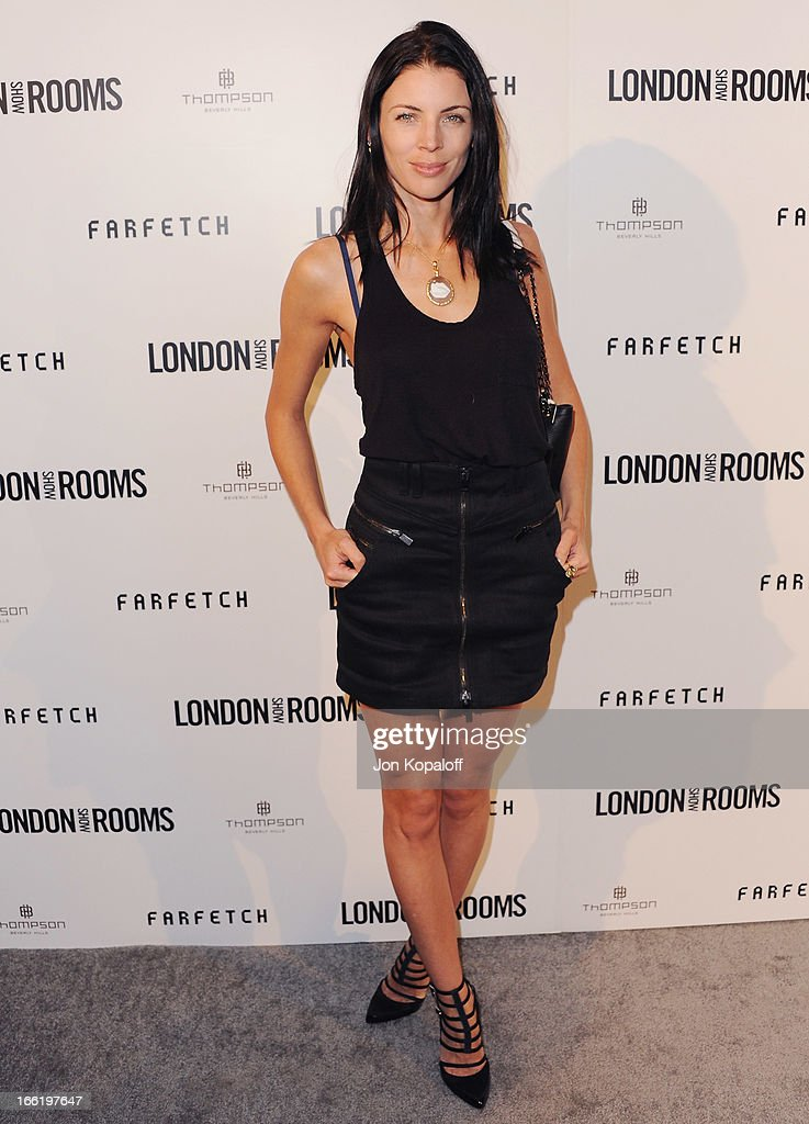 Actress Liberty Ross arrives at the British Fashion Council Celebrates 'London Show Rooms LA' at Thompson Hotel on April 9, 2013 in Beverly Hills, California.