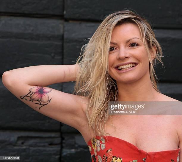 Actress Licia Nunez attends 'Le Tre Rose Di Eva' Mediaset TV series photocall at Castello di Torrimpietra on April 2 2012 in Rome Italy