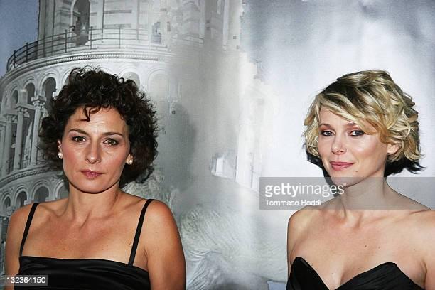 "Actress Lidia Vitale and Barbora Bobulova attend the Cinema Italian Style 2011 opening night gala screening of ""Terraferma"" held at the Egyptian..."