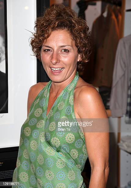 Actress Lidia Vitale attends Details magazine hosts Woolrich John Rich & Bros. Photo exhibition and cocktail party at Ron Herman Melrose on October...