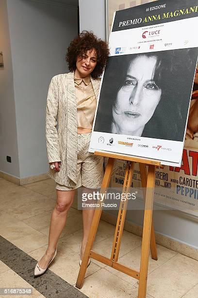 Actress Lidia Vitale attends the '3rd Premio Anna Magnani' at Casa del Cinema on March 21 2016 in Rome Italy