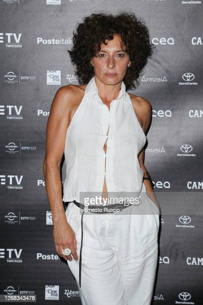 Actress Lidia Vitale attends the Floating Theatre premiere at Parco Centrale del Lago all'EUR on August 24 2020 in Rome Italy