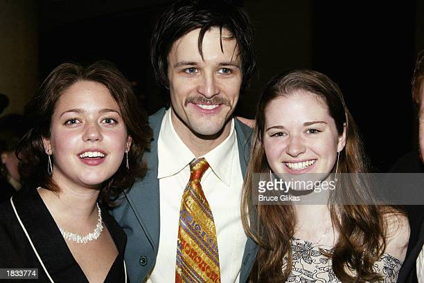 Actress Liesel Matthews actor Peter Starret and actress Sarah Drew attend the Opening Night Party for The Lincoln Center Theater Production of...