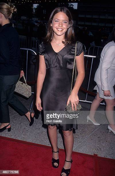Actress Liesel Matthews attends the Air Force One Century City Premiere on July 21 1997 at the Cineplex Odeon Century Plaza Cinemas in Century City...