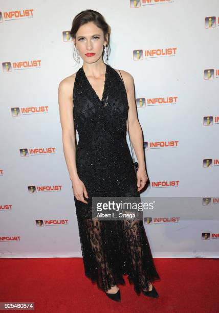 Actress Lili Borden attends the INFOListcom's PreOscar Soiree and Jeff Gund Birthday Party held at Mondrian Sky Bar on February 27 2018 in West...