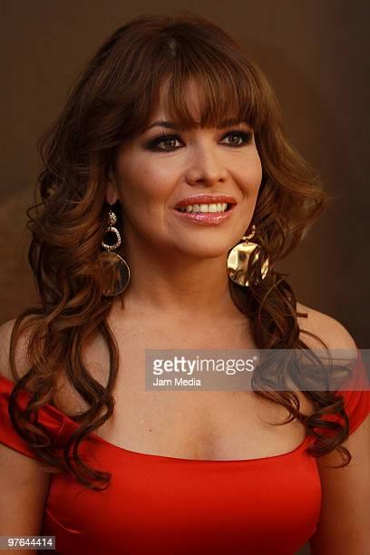 Actress Lili Brillanti poses during the presentation of the H Extremo Magazine at the Castelar Restaurant on March 11 2010 in Mexico City Mexico