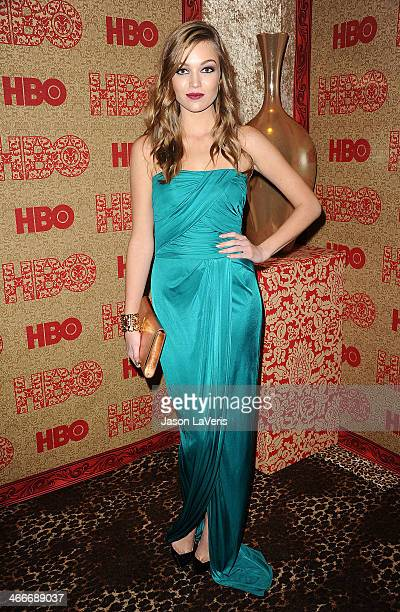 Actress Lili Simmons attends HBO's Golden Globe Awards after party at Circa 55 Restaurant on January 12 2014 in Los Angeles California
