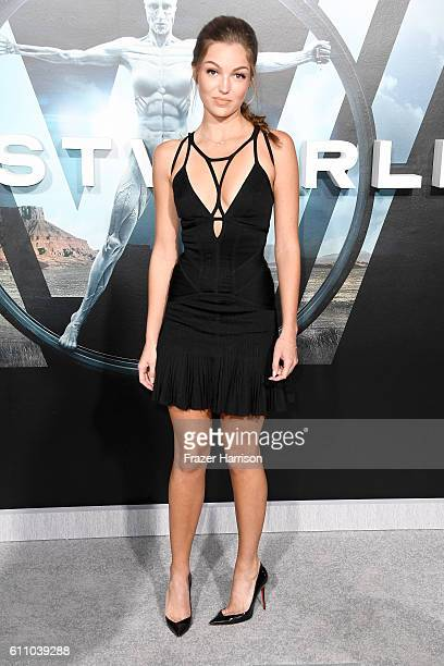 Actress Lili Simmons attends the premiere of HBO's Westworld at TCL Chinese Theatre on September 28 2016 in Hollywood California