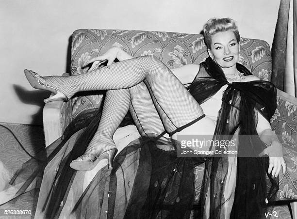 Actress Lili St Cyr performs in the 1954 film Varietease her first fulllength musical