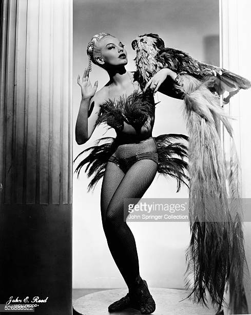 Actress Lili St Cyr with Stuffed Parrot