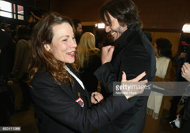 Actress Lili Taylor and Actor Keanu Reeves attend the 'To The Bone' Premiere on day 4 of the 2017 Sundance Film Festival at Eccles Center Theatre on...