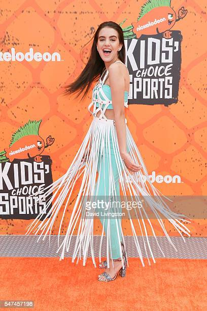 Actress Lilimar arrives at the Nickelodeon Kids' Choice Sports Awards 2016 at the UCLA's Pauley Pavilion on July 14 2016 in Westwood California