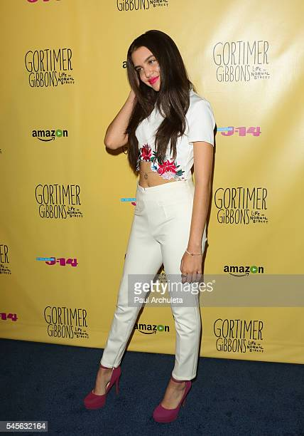 Actress Lilimar Hernandez attends the celebration for Amazon's 'Gortimer Gibbon's Live On Normal Street' season 2 at Racer's Edge Indoor Karting on...