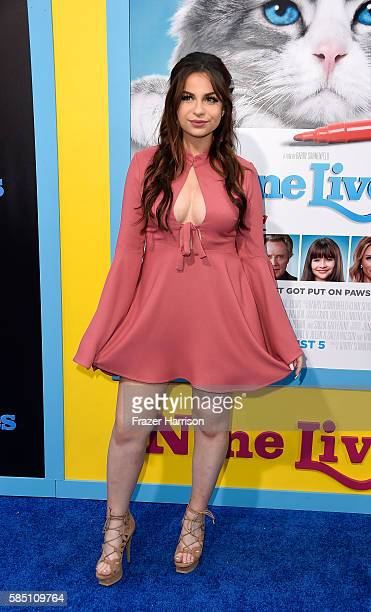 Actress Lilimar Hernandez attends the EuropaCorp's Nine Lives premiere at TCL Chinese Theatre on August 1 2016 in Hollywood California
