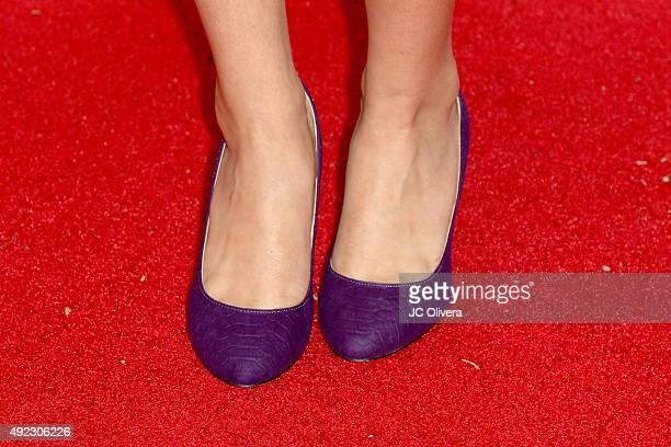 Actress Lilimar Hernandez shoe detail attends The Los Angeles Times and Hoy 2015 Latinos de Hoy Awards at Dolby Theatre on October 11 2015 in...