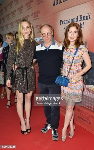 Actress Lilith Stangenberg Simon Schwarz and Nora Waldstaetten during the 'Griessnockerlaffaere' premiere at Mathaeser Filmpalast on August 1 2017 in...
