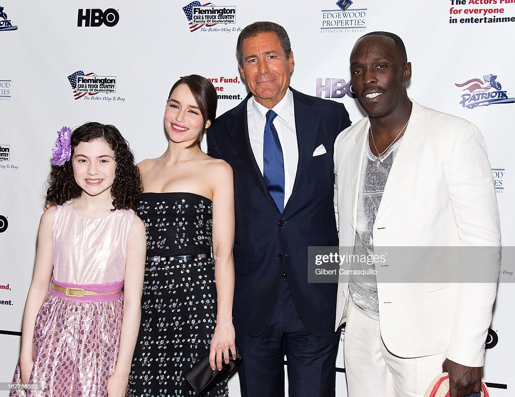 Actress Lilla Crawford, actress Emilia Clarke, HBO CEO Richard Plepler and actor Michael Kenneth Williams attend the 2013 Actors Fund's Annual Gala Honoring Robert De Niro at The New York Marriott Marquis on April 29, 2013 in New York City.