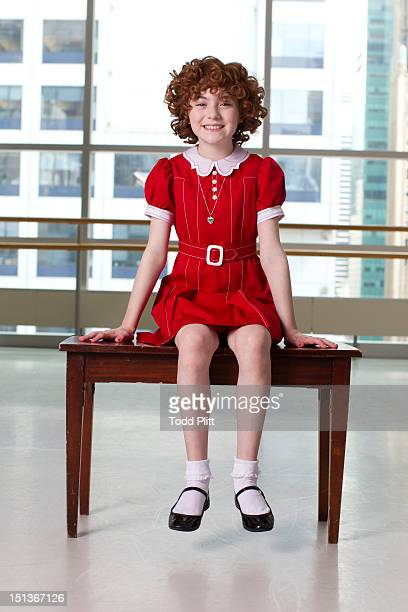 Actress Lilla Crawford who plays Annie in the Broadway revival is photographed for USA Today on August 20 2012 in New York City