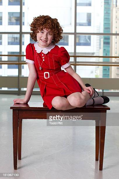 Actress Lilla Crawford who plays Annie in the Broadway revival is photographed for USA Today on August 20 2012 in New York City PUBLISHED IMAGE