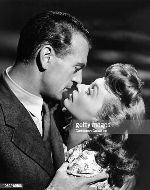"Actress Lilli Palmer and Gary Cooper in a scene from the movie ""Cloak and Dagger"""