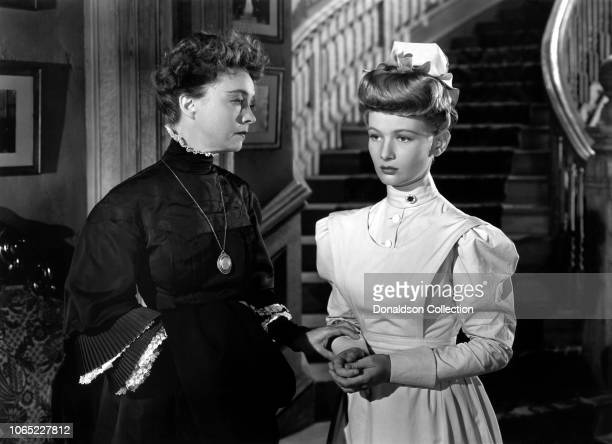 Actress Lillian Gish and Veronica Lake in a scene from the movie Miss Susie Slagle's