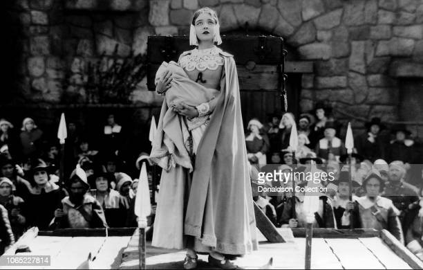 Actress Lillian Gish in a scene from the movie The Scarlet Letter