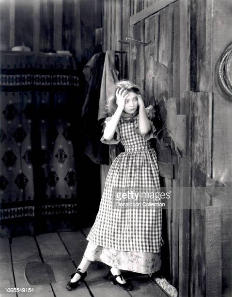 Actress Lillian Gish in a scene from the movie The Wind