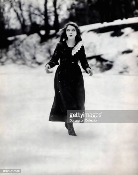 Actress Lillian Gish in a scene from the movie Way Down East