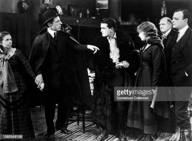 Actress Lillian Gish Richard Barthelmess Kate Bruce DW Griffith Mrs David Landau Burr McIntosh Lowell Sherman in a scenne from the movie Way Down East
