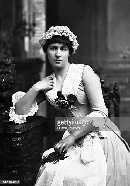 Actress Lillie Langtry in her theatrical debut as Kate Hardcastle in She Stoops To Conquer performed at London's Haymarket Theater in 1881 Langtry...
