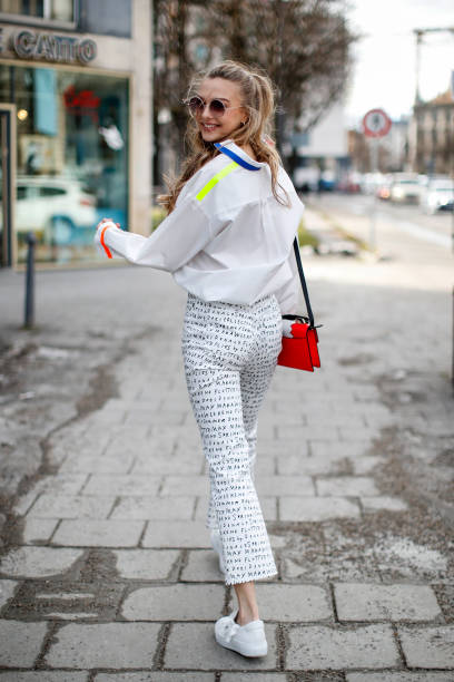 DEU: Lilly Krug Street Style Shooting In Munich