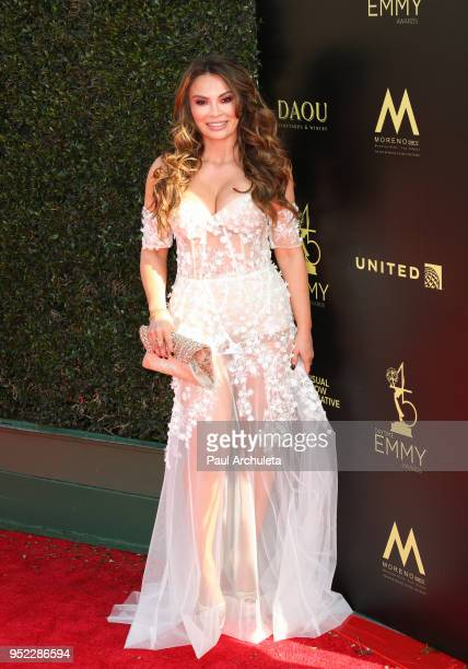 Actress Lilly Melgar attends the 45th Annual Daytime Creative Arts Emmy Awards at the Pasadena Civic Auditorium on April 27 2018 in Pasadena...