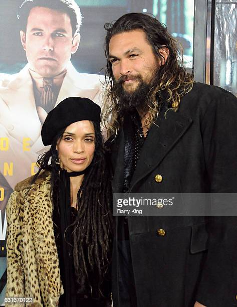Actress Lilokoi Moon aka Lisa Bonet and actor Jason Momoa attend the premiere of Warner Bros Pictures' 'Live By Night' at TCL Chinese Theatre on...