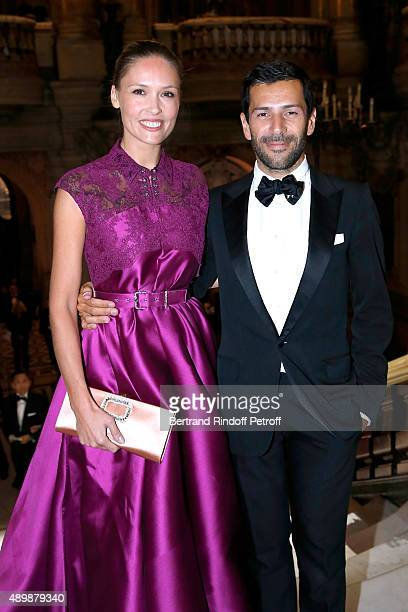 Actress Lilou Fogli and Fashion Designer Alexis Mabille attend the Ballet National de Paris Opening Season Gala at Opera Garnier on September 24 2015...