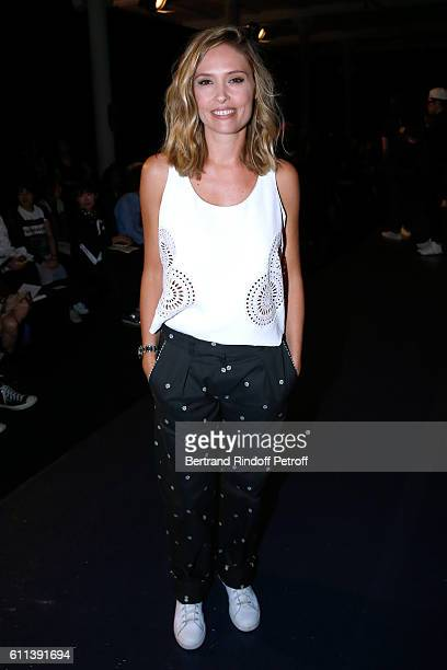 Actress Lilou Fogli attends the Alexis Mabille show as part of the Paris Fashion Week Womenswear Spring/Summer 2017 on September 29 2016 in Paris...