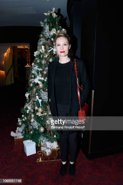 Actress Lilou Fogli attends the Inauguration of the Chalet Les Neiges Courchevel on the terrace of the Hotel Barriere Le Fouquet's Paris on November...