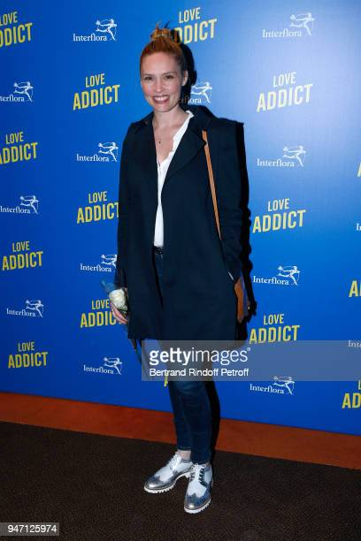 Actress Lilou Fogli attends the Love Addict Premiere at Cinema Gaumont Marignan on April 16 2018 in Paris France