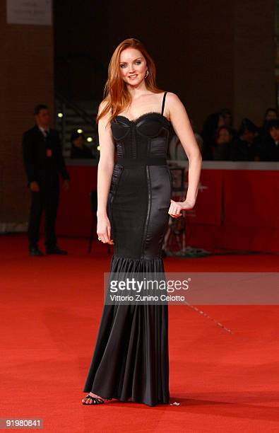 Actress Lily Cole attend 'The Imaginarium Of Doctor Parnassus' Premiere during day 4 of the 4th Rome International Film Festival held at the...