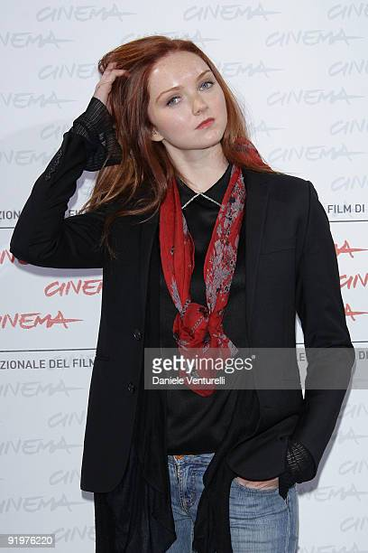 """Actress Lily Cole attends """"The Imaginarium Of Doctor Parnassus"""" Photocall during day 4 of the 4th Rome International Film Festival held at the..."""