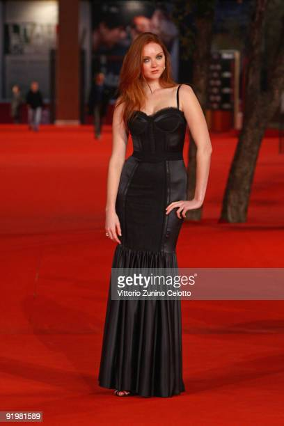 Actress Lily Cole attends 'The Imaginarium Of Doctor Parnassus' Premiere during day 4 of the 4th Rome International Film Festival held at the...