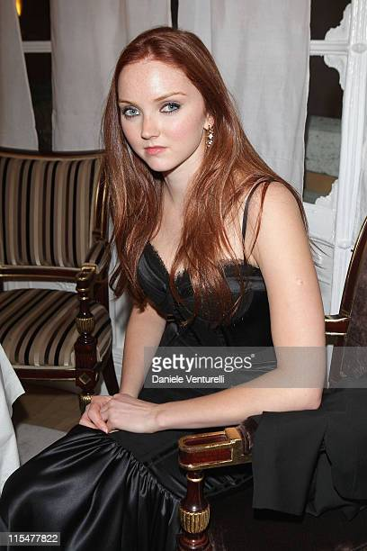 """Actress Lily Cole attends """"The Imaginarium Of Doctor Parnassus"""" Cocktail Party during day 4 of the 4th Rome International Film Festival held at the..."""