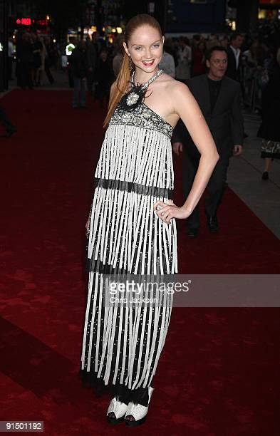 """Actress Lily Cole attends the """"The Imaginarium Of Doctor Parnassus"""" UK film premiere held at the Empire Leicester Square on October 6, 2009 in..."""