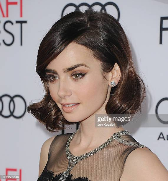 Actress Lily Collins arrives at AFI FEST 2016 Presented By Audi Opening Night Premiere Of 20th Century Fox's 'Rules Don't Apply' at TCL Chinese...