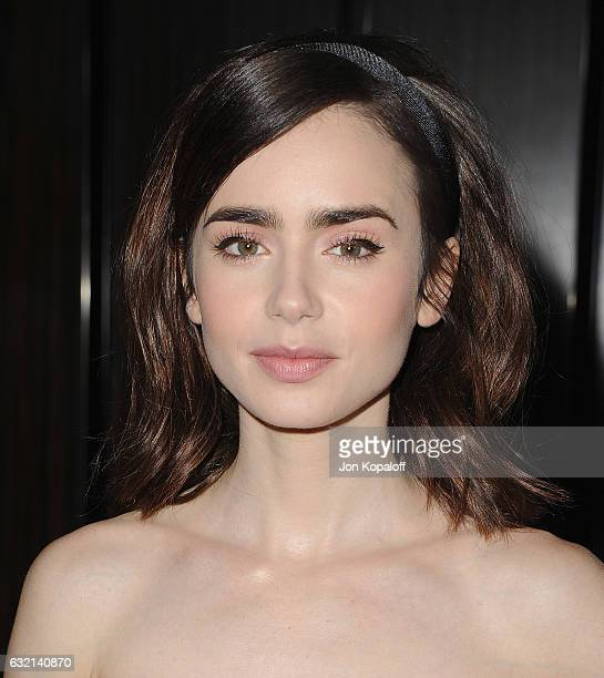Actress Lily Collins arrives at the 2017 Annual Artios Awards at The Beverly Hilton Hotel on January 19 2017 in Beverly Hills California