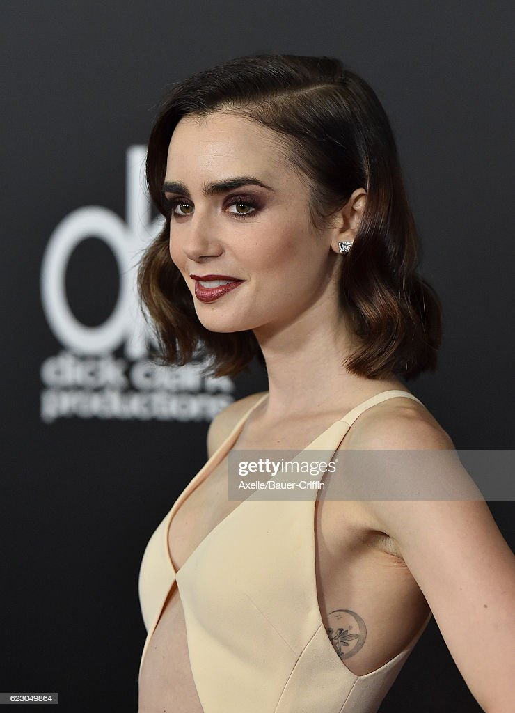 Actress Lily Collins arrives at the 20th Annual Hollywood Film Awards at the Beverly Hilton Hotel on November 6, 2016 in Los Angeles, California.