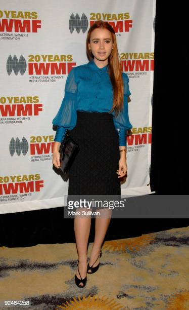 Actress Lily Collins arrives at The International Women's Media Foundation's Courage In Journalism Awards held at the Beverly Hills Hotel on October...