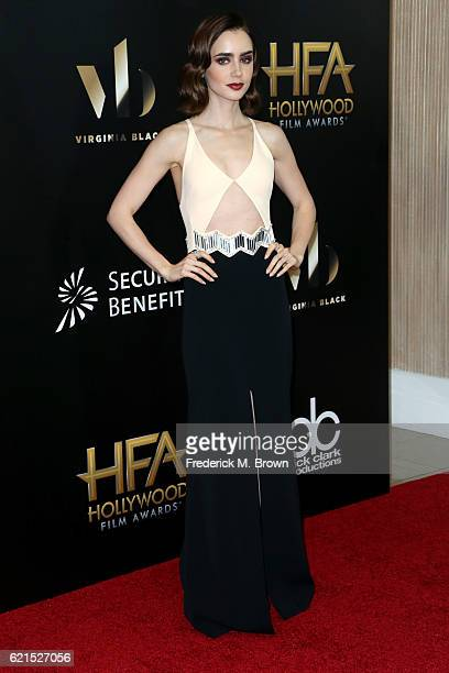 Actress Lily Collins attends the 20th Annual Hollywood Film Awards on November 6 2016 in Beverly Hills California