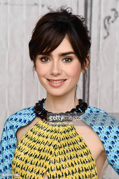 Actress Lily Collins attends The Build Series Presents Lily Collins discussing the new film 'Rules Don't Apply' at AOL HQ on November 15 2016 in New...