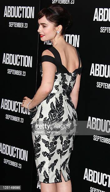 Actress Lily Collins attends the premiere of Lionsgate Films' Abduction at Grauman's Chinese Theatre on September 15 2011 in Hollywood California