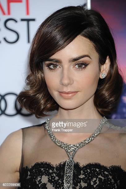 """Actress Lily Collins attends the premiere of """"Rules Don't Apply"""" held at AFI Fest 2016, presented by Audi at TCL Chinese Theatre on November 10, 2016..."""